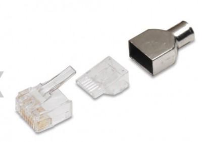 AMP Category 6 Modular Plug, RJ45, 24-23AWG, Solid (KIT, 8P, MOD PLUG, SOLID, CAT6). Mã sản phẩm: 5-1479185-3